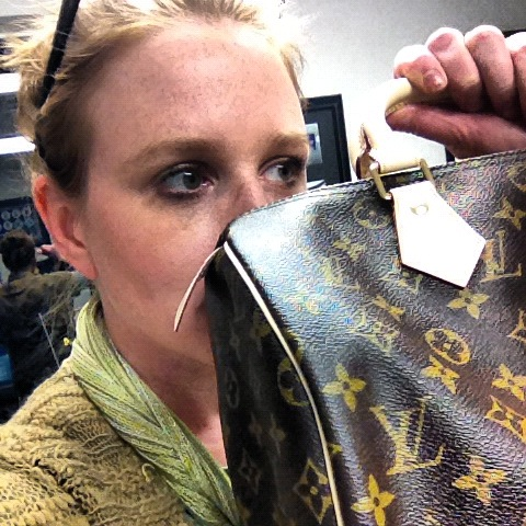 sniffing a louis vuitton